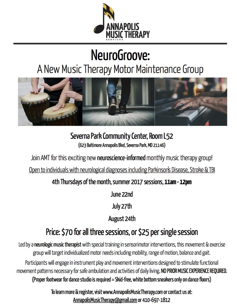 NeuroGroove Summer 2017 Flyer